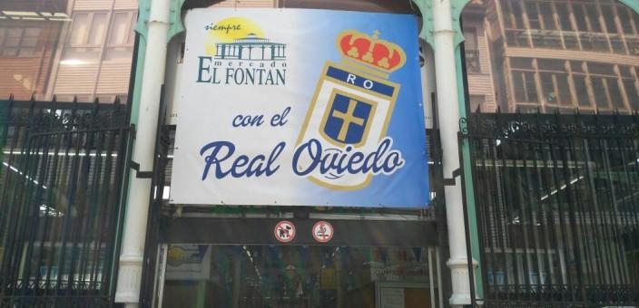 Mercado El Fontán con el Real Oviedo